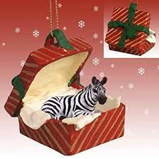 zebra gift box ornament home kitchen