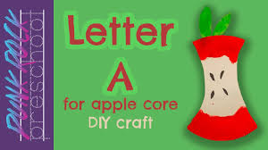a for apple core best letter crafts for kids fun letter