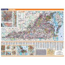 Virginia Map Virginia State Map Virginia State Road Map by Virginia Laminated State Wall Map