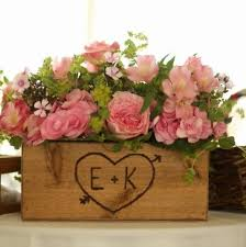 Wooden Centerpiece Boxes by Rustic Wedding Wooden Country Barnwood Box Table Centerpiece For