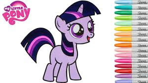 my little pony coloring book twilight sparkle filly mlp colouring