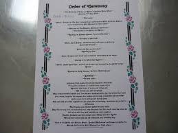100 order of service wedding template civil ceremony