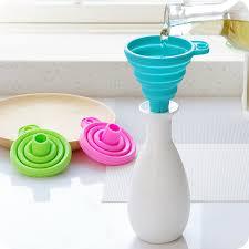 entonnoir de cuisine 1 pcs mini silicone gel pliable pliable style entonnoir trémie