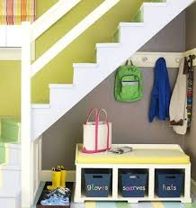 under stairs shelving creative ways to put the space under your stairs to good use