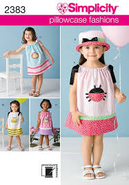 simplicity sewing pattern 2383 toddlers dresses a 1