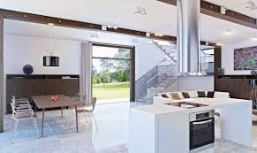 kitchen modern open plan kitchen living dining room with white