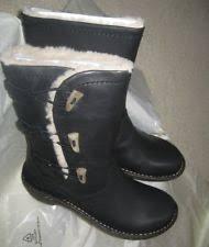 s ugg black leather ugg australia w chaney us 10 black mid calf boot ebay