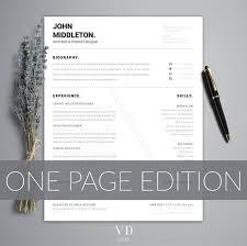 Minimalist Resume Architect Resume Minimalist Cv One Page Resume Modern Man Modern