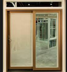 Wooden Sliding Patio Doors Interior Siteline Ex Wood Sliding Patio Door Design Interior