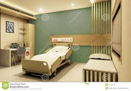 hospital room realistic 3d view stock illustration image 51172772
