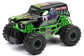 grave digger radio control monster truck amazon com new bright f f monster jam grave digger rc car 1 24