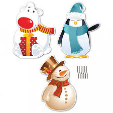 Snowman Lawn Decorations Polar Bear Penguin And Snowman Christmas Lawn Decorations Clip