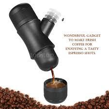 Manual Coffee Grinders Homgeek Minipresso Portable Espresso Maker Hand Pump Expresso