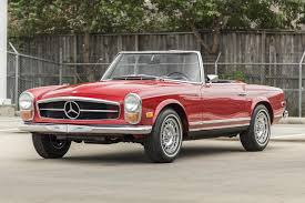 classic red mercedes 1968 mercedes benz 250 sl
