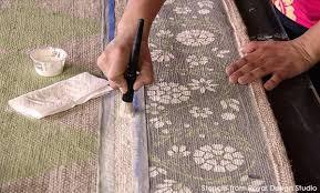 Diamond Pattern Sisal Rug How To Stencil A Pretty Diy Rug With Chalk Paint U0026 Floor Stencils