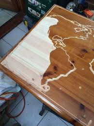 Old Coffee Table by I Turned My Old Coffee Table In A Glow In The Dark Epoxy Map Of