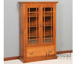Shaker Bookcase Amusing Wooden Bookcases With Glass Doors Gallery Best