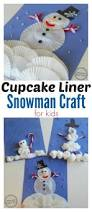 cupcake liner snowman craft planning playtime