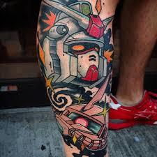 50 gundam tattoo designs for men giant robot ink ideas