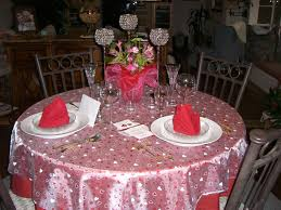 round table decorations valentine u0027s day table setting for two i used a red round table