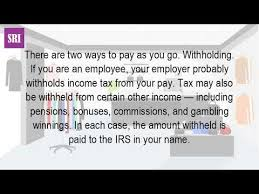 Irs Tax Withholding Tables What Is Income Tax Withholding Youtube
