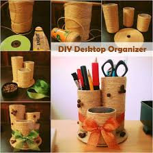 toilet paper roll desk organizer diy desktop organizer diy crafts and ideas