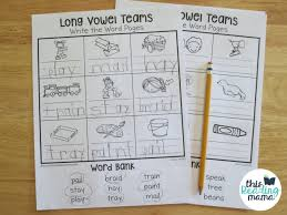 long vowel teams worksheets write the word pages this reading mama