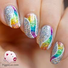 white tip nail designs with glitter