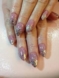 social build almond nails with gel polish and vintage rose
