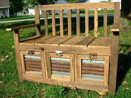 Garden Storage Bench Uk Upholstered Storage Bench With Nailheads