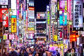imagenes tokyo japon tokio japón 14 de marzo 2014 signos densamente alinean un