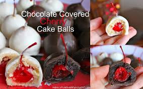 chocolate covered cherry cake balls my biscuits are burning