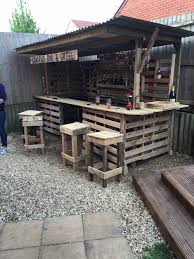 Decorative Coolers For The Patio by Making The Ultimate Garden Bar Using Pallets Pallets Bar And