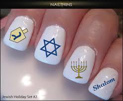 hanukkah nail set 2 hanukkah nail decals nailthins nail