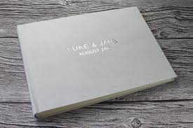 Leather Guest Book Wedding Personalised Leather Visitor Book Archives Bespoke Album Company