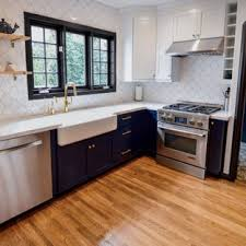 houzz blue kitchen cabinets 75 beautiful craftsman kitchen with blue cabinets pictures
