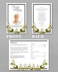 create funeral programs funeral programs search memory crafted