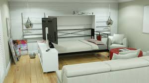Coventry Wall Bed avant garde double size sideways wallbed with tv stand