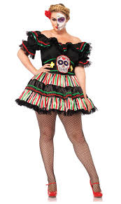 vire costumes size day of the dead doll costume