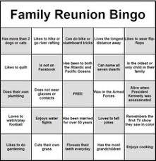 family reunion get to you bingo family reunions free