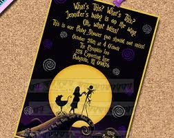 nightmare before christmas wedding invitations nightmare before christmas baby shower invitations themesflip