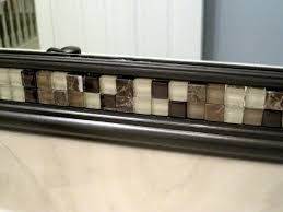 tile mirror frame ideas vanity decoration