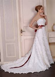 sash for wedding dress luxurious strapless lace wedding dress with burgundy