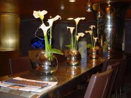 Mirrored Vases Calla Lilies In Mirrored Vases Brighton Sussex Based Florist
