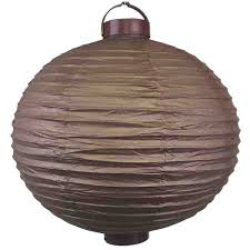 battery operated paper lantern lights 15inch battery operated light 12 led paper lantern chocolate