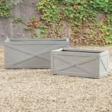 Concrete Planter Boxes by Rectangular Planters You U0027ll Love Wayfair