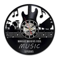 music quotes art gift circle vinyl wall clock art home decor