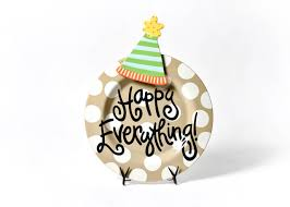 happy everything plate attachments neutral dot happy everything big platter with party hat big