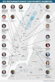 Little Italy Nyc Map by Celebrity Restaurants In Nyc Map Business Insider
