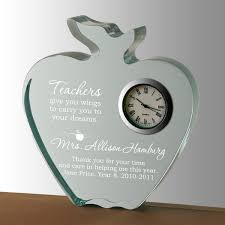 personalized keepsakes teachers apple clock keepsake